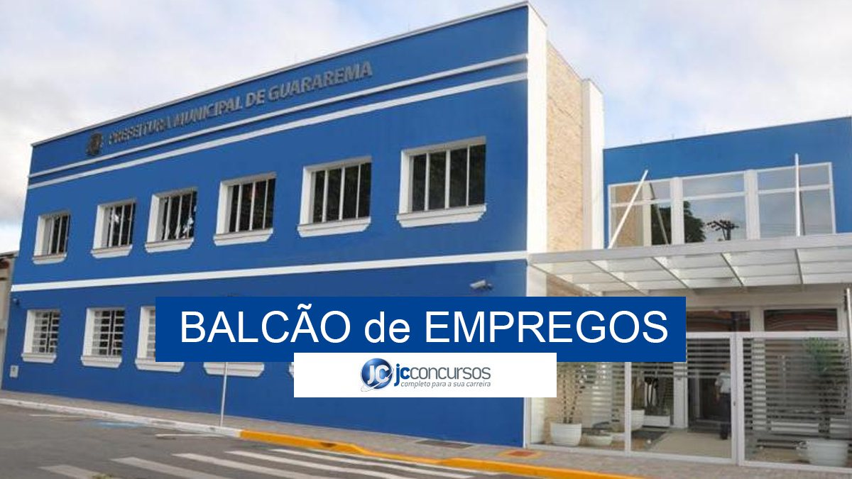 Balcão de Empregos de Guararema SP oferece vagas de emprego