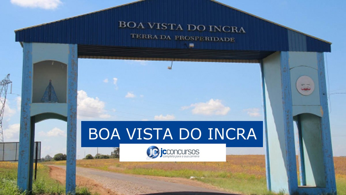 Boa Vista do Incra Concurso
