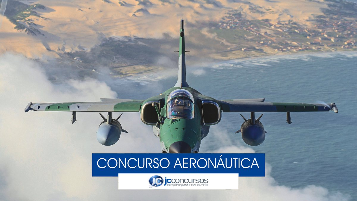 Concurso Aeronáutica - avião da Força Aérea Brasileira