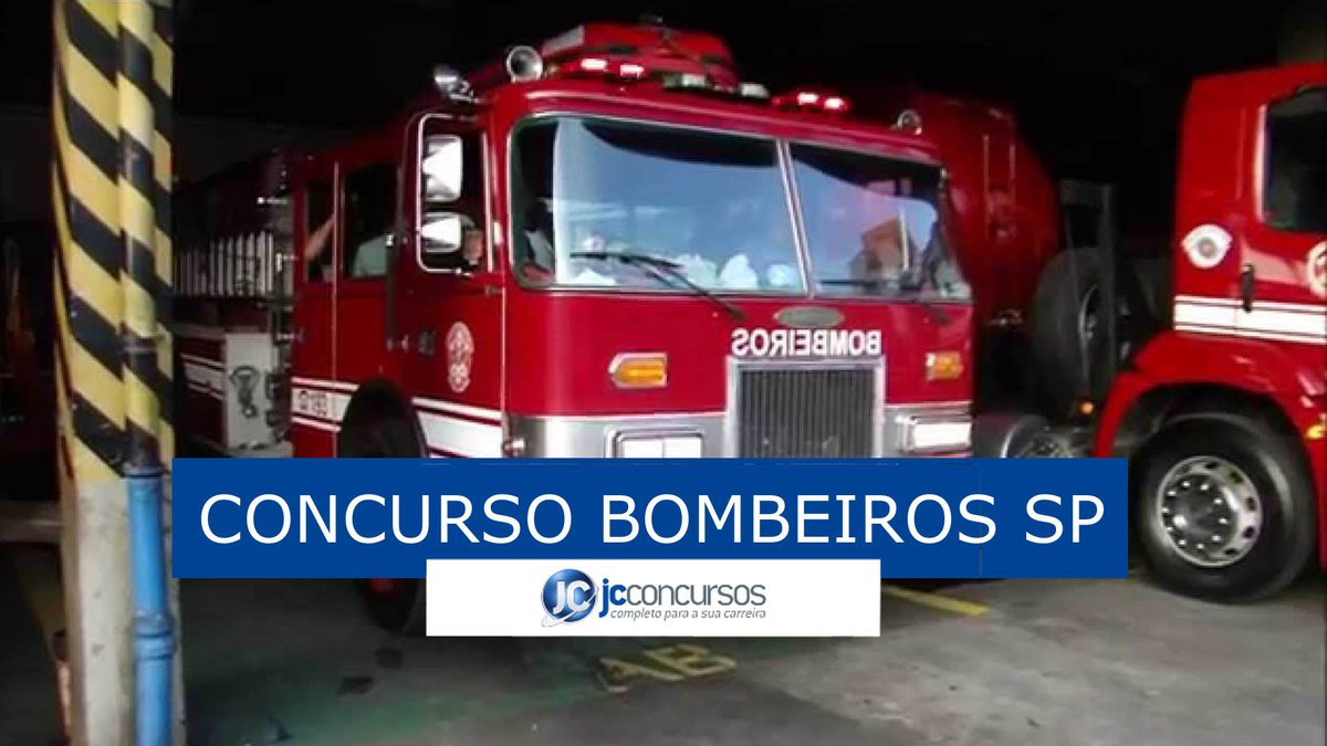 Concurso Bombeiros SP - viatura do corpo de bombeiros