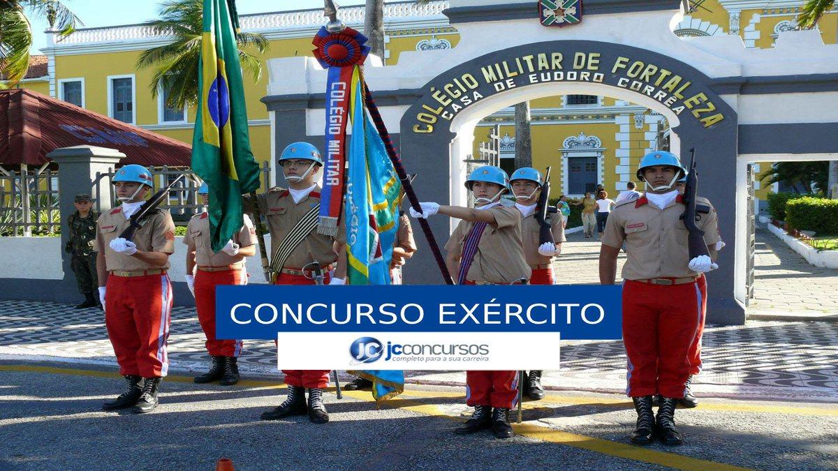 Concurso Exército - estudantes do Colégio Militar de Fortaleza