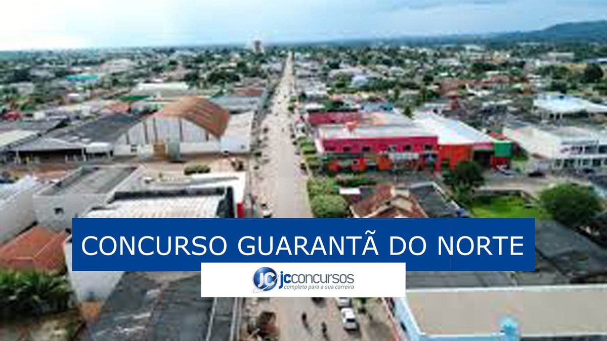 Concurso de Guarantã do Norte: vista da cidade
