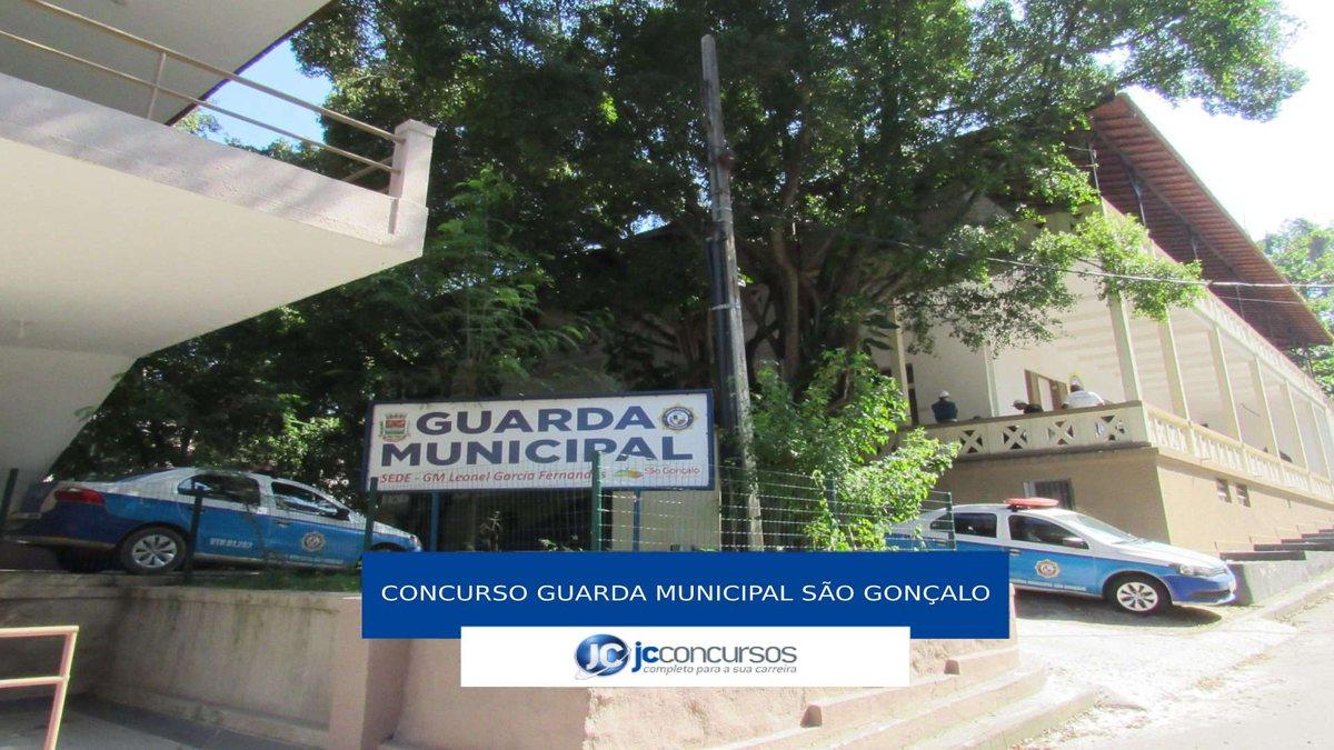 Concurso Guarda Municipal de São Gonçalo: agentes da corporação perfilados