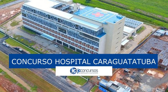 Concurso do Hospital de Caraguatatuba: vista aérea do Hospital Regional do Litoral Norte - Divulgação