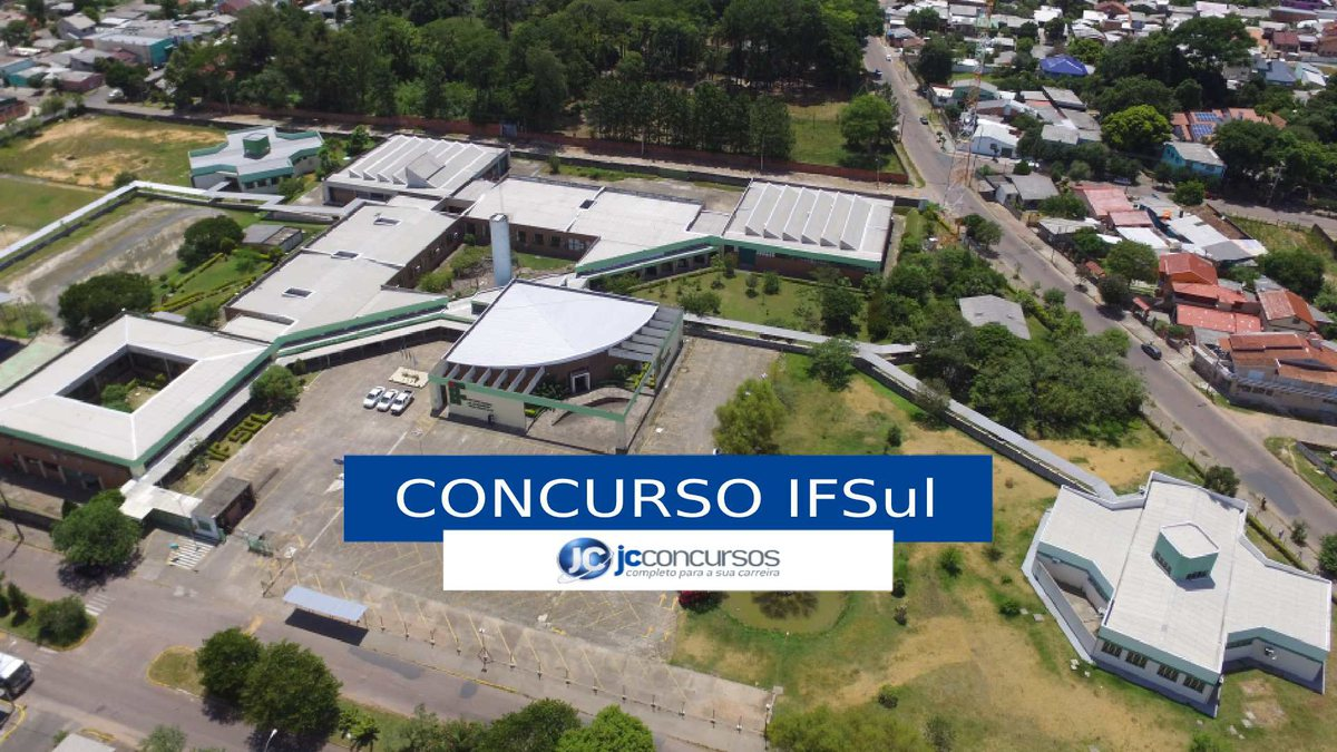 Concurso IFSul - vista aérea do campus Sapucaia do Sul