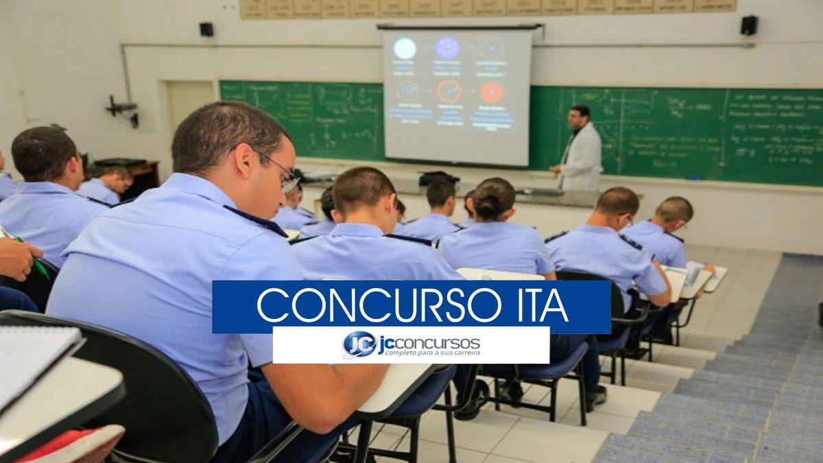 Concurso ITA - estudantes durante aula no Instituto Tecnológico de Aeronáutica