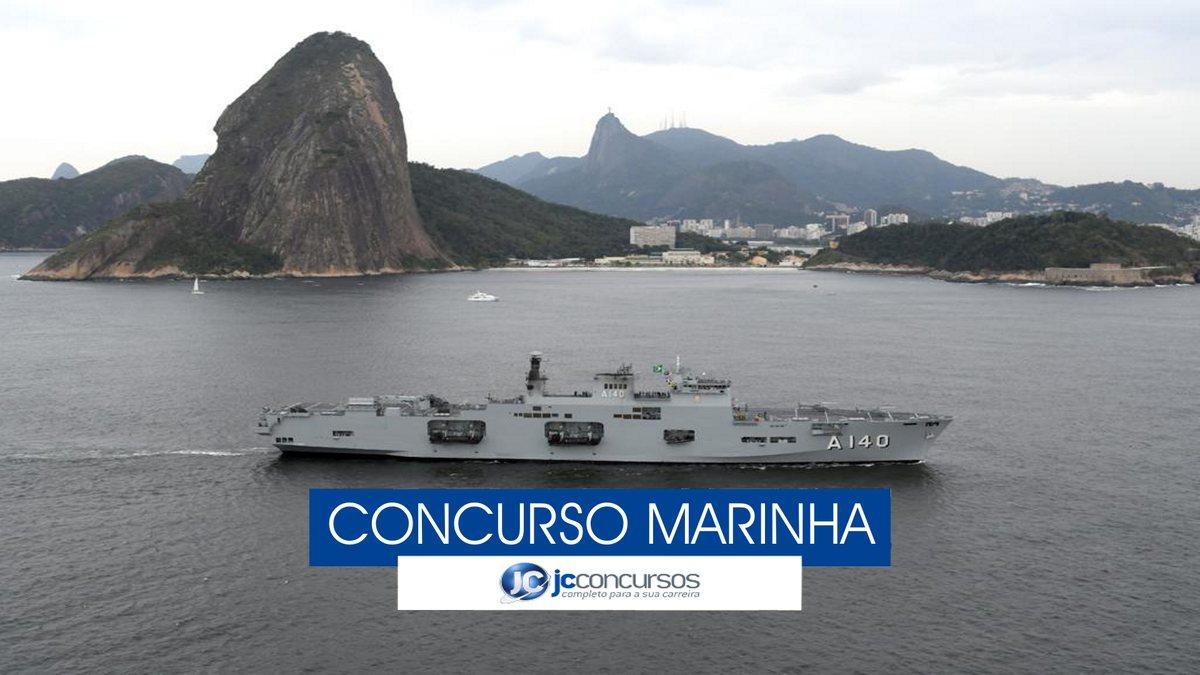 Concurso Marinha - navio próximo à costa brasileira