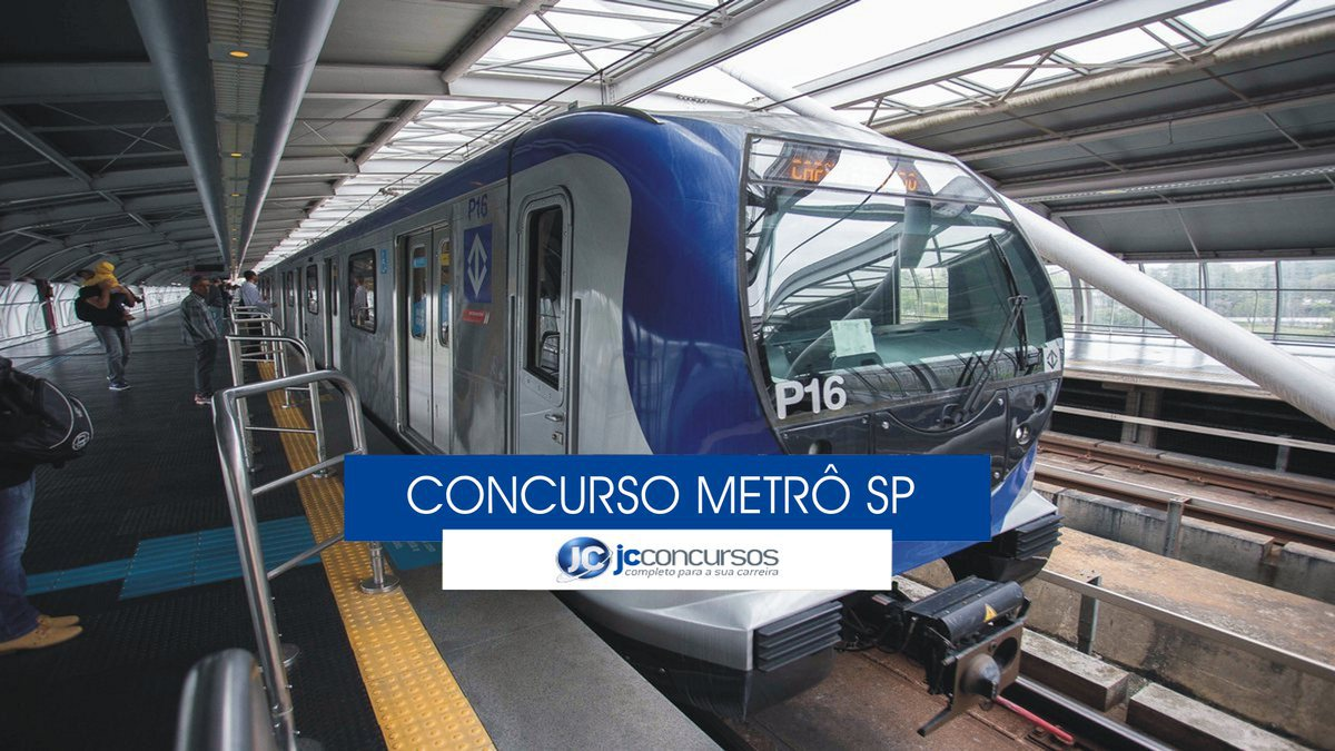 Concurso Metrô SP: trem do metrô sp