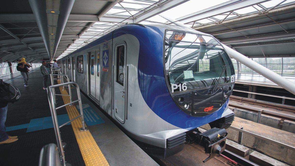 Concurso Metrô SP - trem da Companhia do Metropolitano de São Paulo