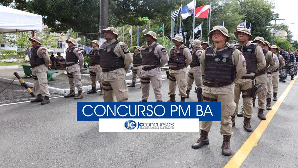 Concurso PM BA: soldados