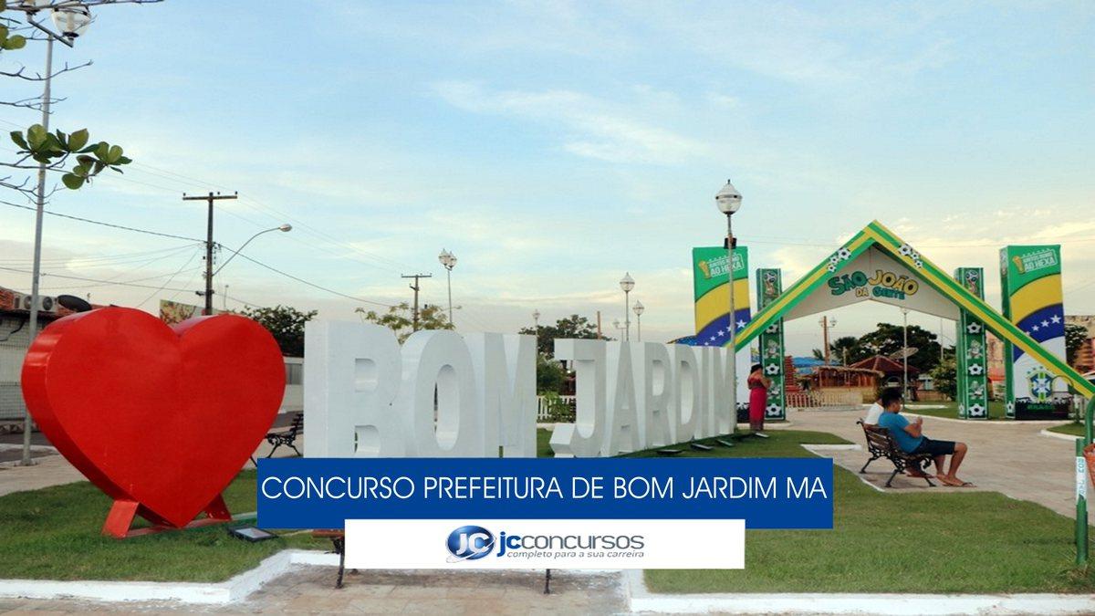 Concurso Prefeitura de Bom Jardim MA - letreiro turístico do município