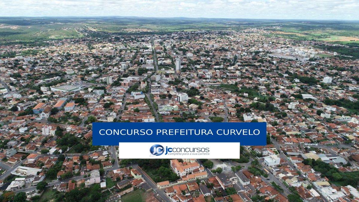 Concurso Prefeitura de Curvelo - vista aérea do município