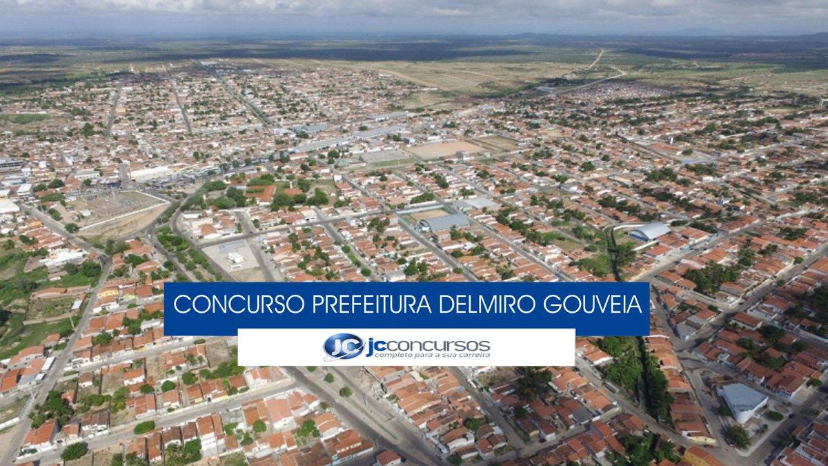 Concurso Prefeitura de Delmiro Gouveia - vista aérea do município