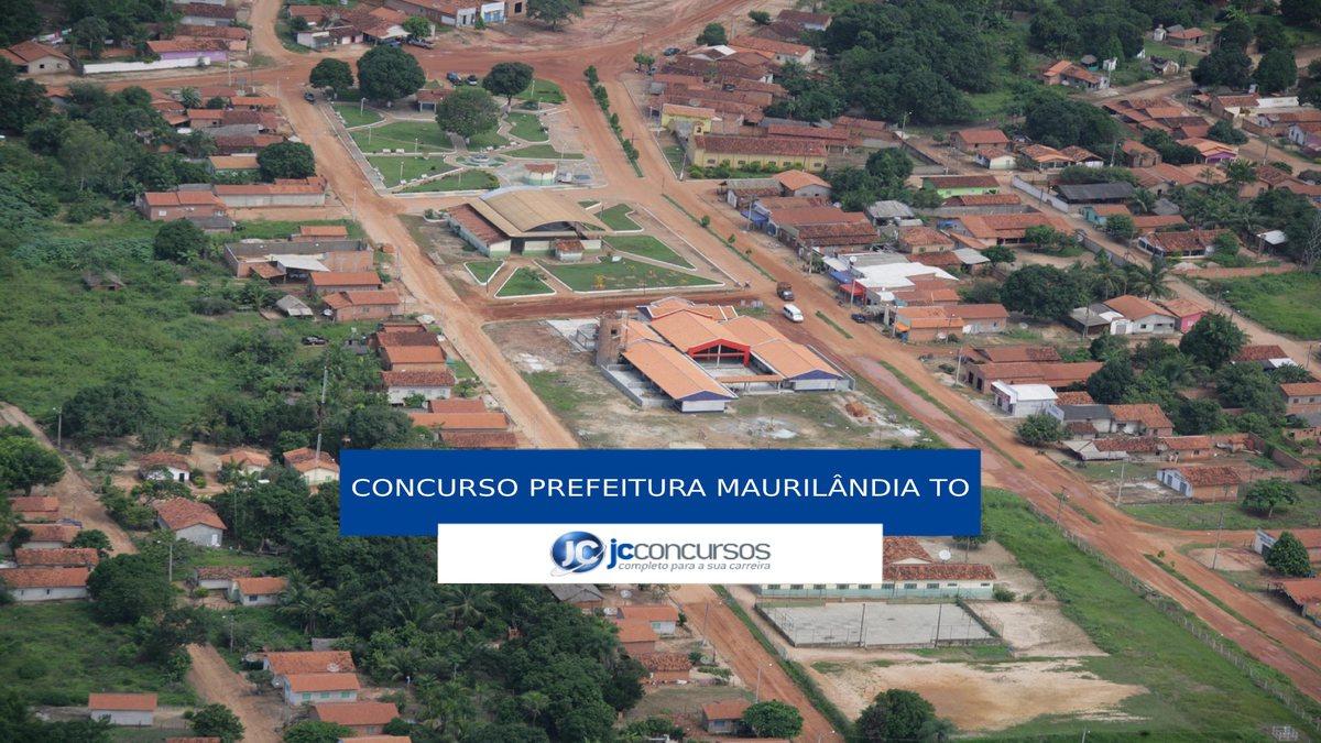 Concurso Prefeitura de Maurilândia do Tocantins - vista aérea do município