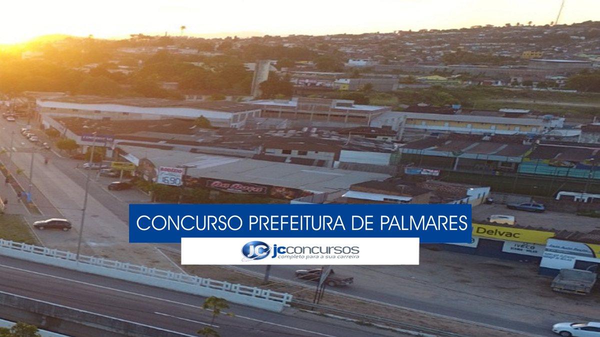 Concurso Prefeitura de Palmares - vista aérea do município