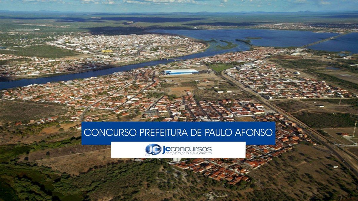 Concurso Prefeitura de Paulo Afonso - vista aérea do município