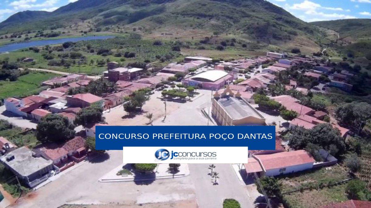 Concurso Prefeitura de Poço Dantas - vista aérea do município