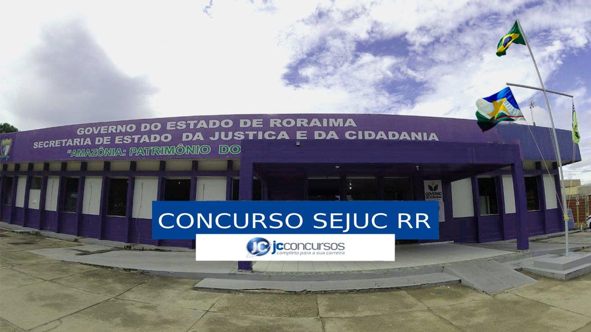 Concurso Sejuc RR - sede da Secretaria de Estado da Justiça e da Cidadania de Roraima