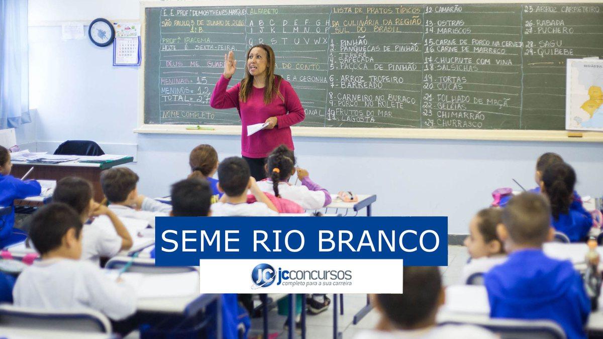Concurso Seme Rio Branco: vagas na educação