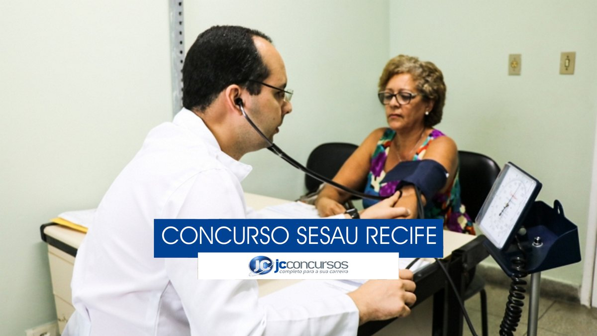 Concurso Sesau Recife - mulher recebe atendimento médico