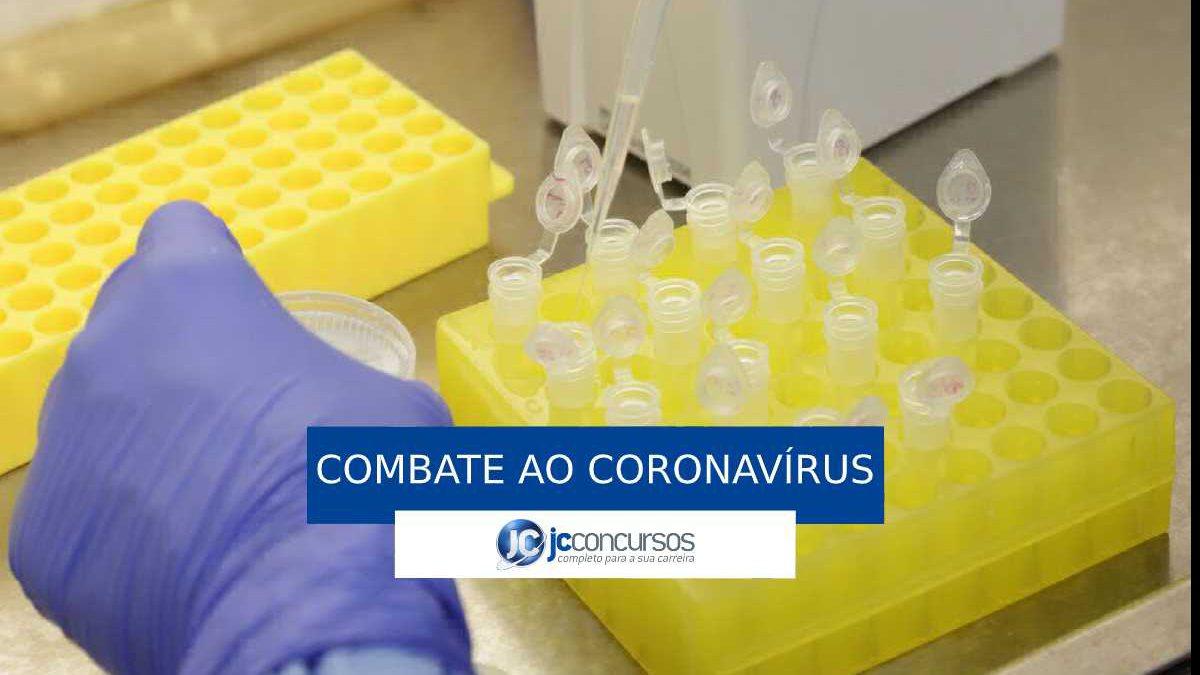 Coronavírus: amostras para teste em laboratório de diagnóstico da Fiocruz