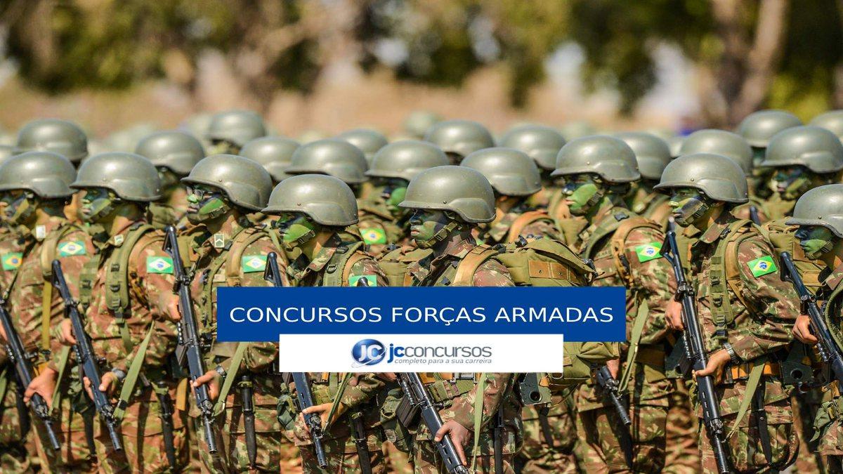 Concursos Forças Armadas: militares perfilados