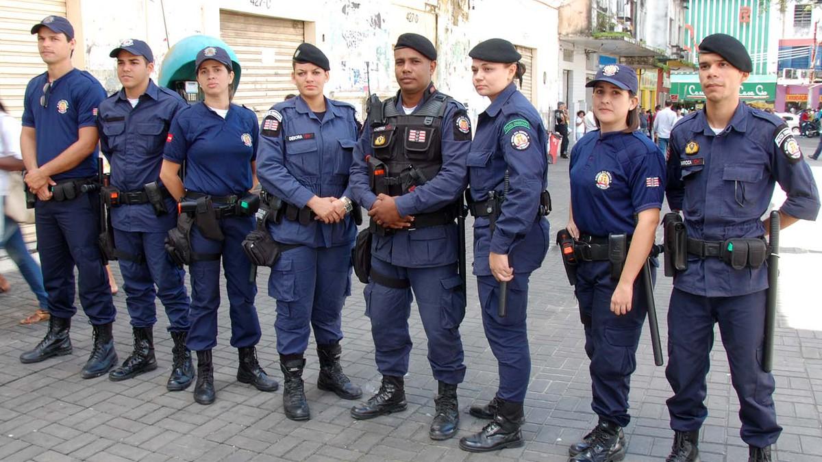 servidores públicos exercendo a função de guarda municipal