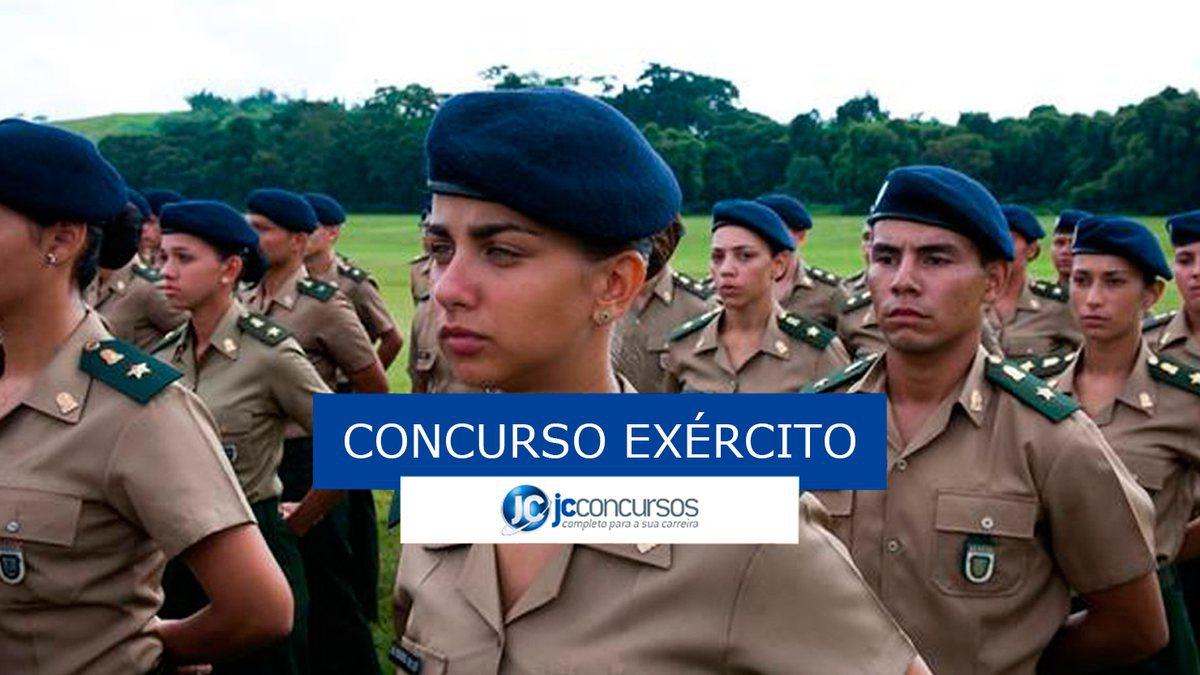 Concurso Exército: soldados do exército