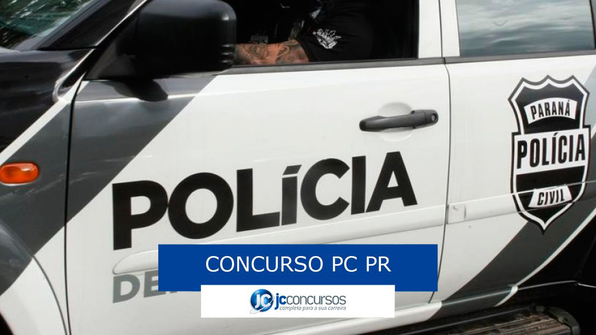 Concurso PC PR: viatura da Polícia Civil do PR