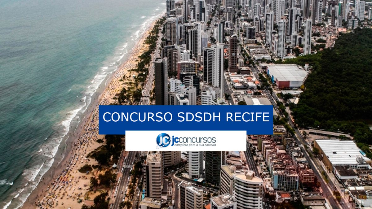 Concurso SDSDH de Recife: vista aérea da cidade