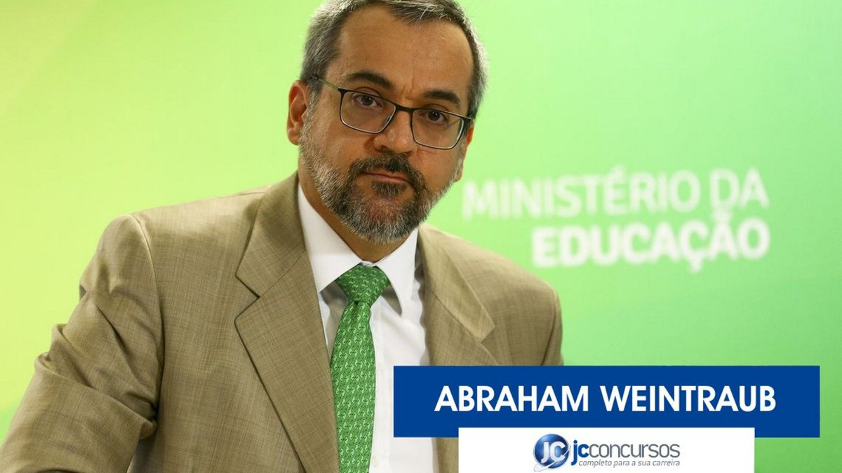 Concurso Educação: ministro da Educação Abraham Weintraub