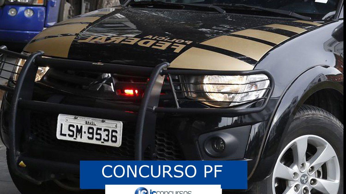 Concurso PF - viatura da Polícia Federal