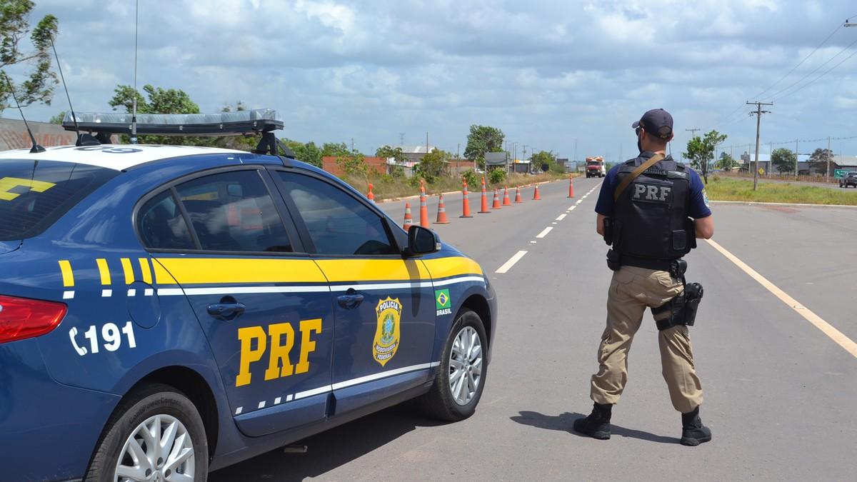 Concurso PF - viatura da Polícia Rodoviária Federal
