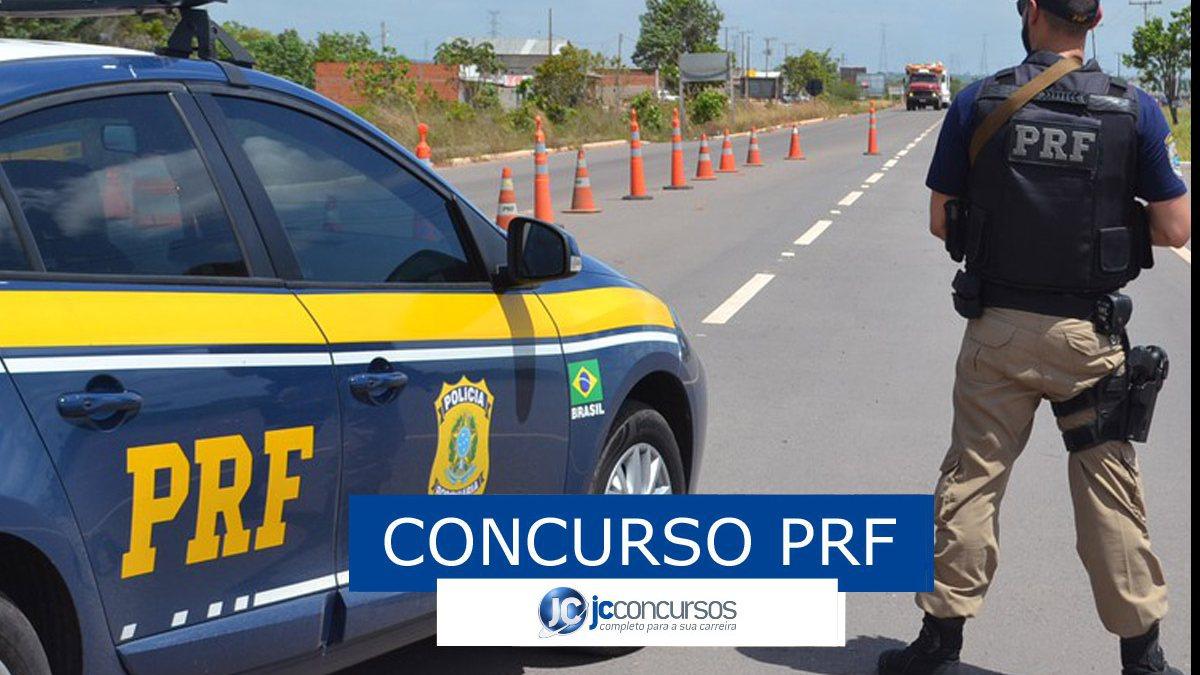 Concurso PRF: viatura da Polícia Rodoviária Federal