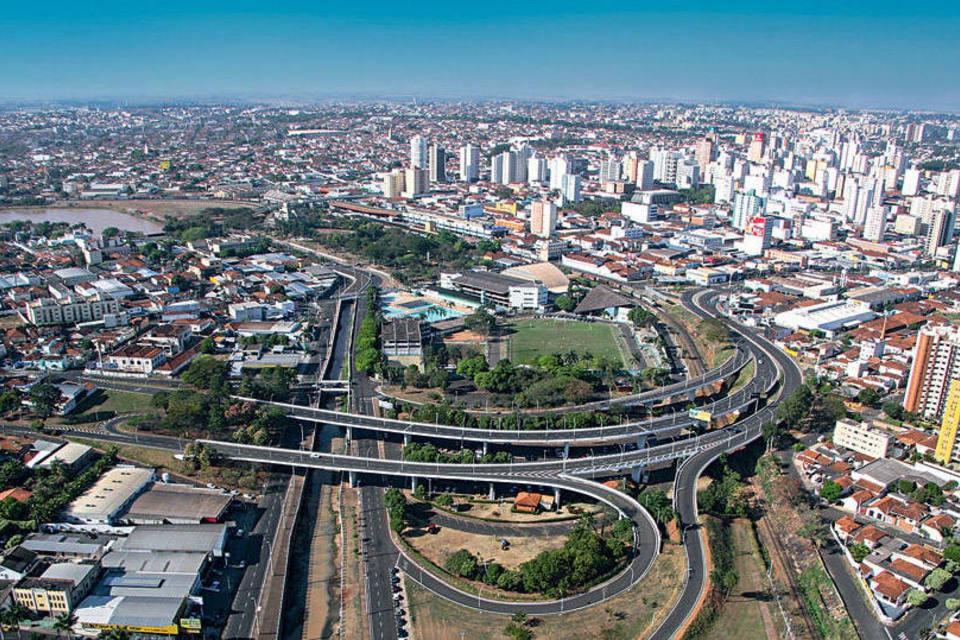 Concurso Rio Preto SP 2019 - Foto aérea da cidade de Rio Preto