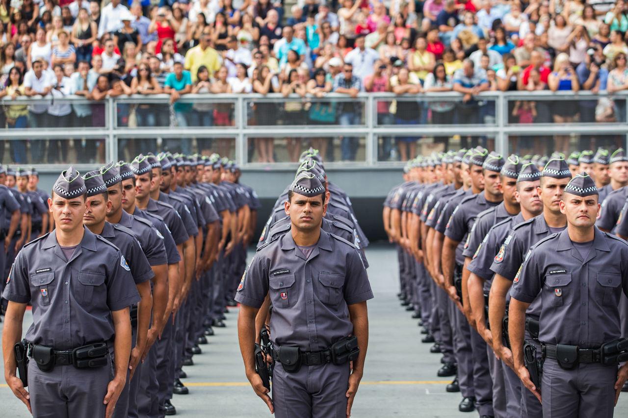Apresentação dos soldados da PM SP