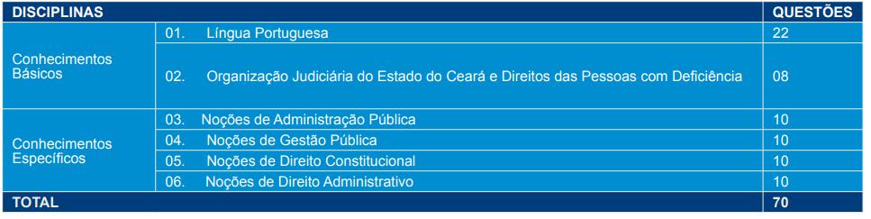 prova objetiva área administrativa
